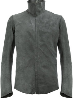 high collar leather jacket Isaac Sellam Experience