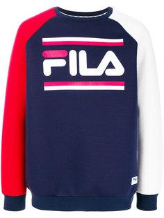 трехцветная толстовка с логотипом Fila