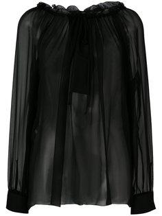 блузка с кружевной отделкой Alberta Ferretti