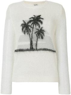 свитер с принтом пальм Saint Laurent