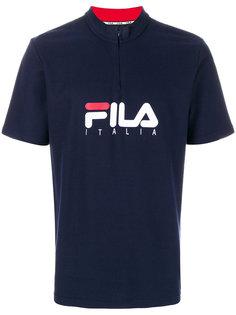 футболка с принтом-логотипом и застежкой-молнией Fila