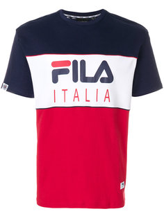 трехцветная футболка Fila