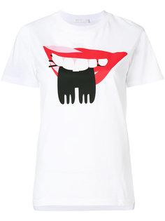 футболка с принтом губ  Peter Jensen