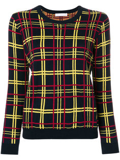 свитер с принтом в клетку  Peter Jensen