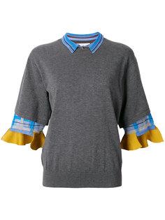 свитер с деталями в клетку Toga Pulla