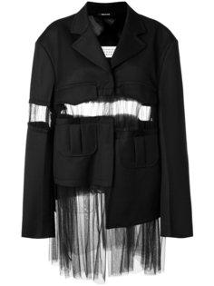 пиджак с прозрачной вставкой Maison Margiela