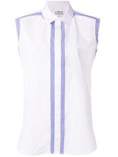 рубашка с полосатыми панелями Maison Margiela
