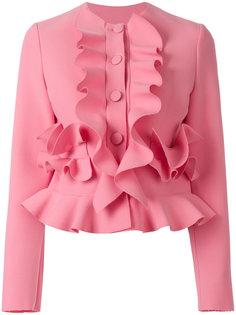 приталенный пиджак с рюшами MSGM