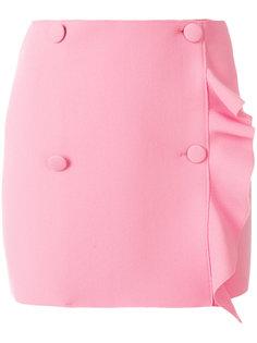 асимметричная юбка с рюшами MSGM