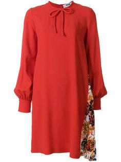 платье с контрастными панелями MSGM