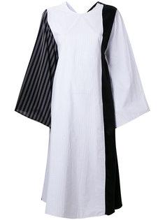 полосатое платье лоскутного кроя Mm6 Maison Margiela