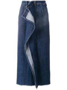 джинсовая юбка с оборками Mm6 Maison Margiela