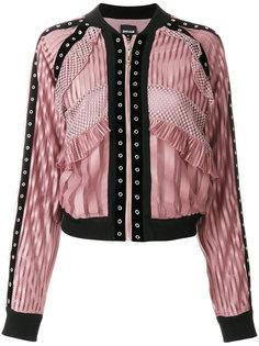 куртка-бомбер с кружевными панелями Just Cavalli