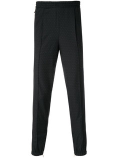 брюки с мелким узором в горох Kris Van Assche