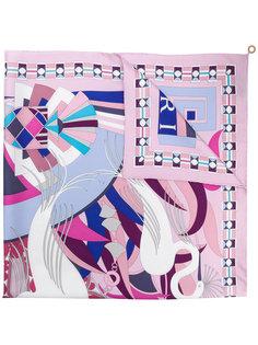 шарф с графическим принтом  Bulgari