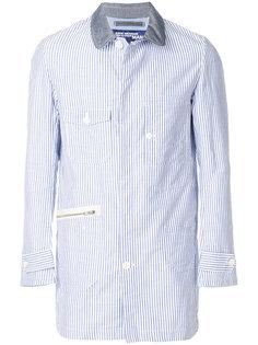 куртка рубашечного кроя в полоску Junya Watanabe Comme Des Garçons Man