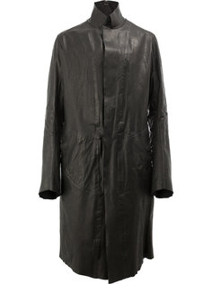 fitted leather coat Isaac Sellam Experience