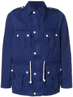 куртка с косым воротником Maison Kitsuné