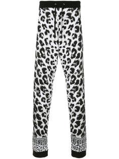 спортивные брюки с леопардовым принтом Versus