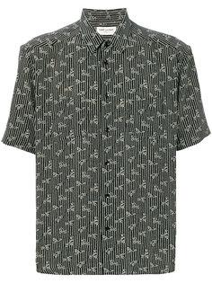 рубашка с мелким принтом и короткими рукавами Saint Laurent