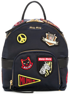 рюкзак с вышивкой Miu Miu