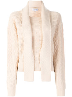 текстурный свитер с геометрическим узором Carven