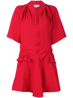 платье мини со шнуровкой  Carven