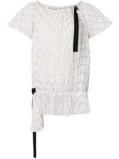 блузка в клетку со сборкой Sacai