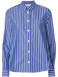 пполосатая поплиновая рубашка  Sacai