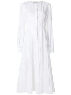 плиссированное платье с поясом  Gabriela Hearst
