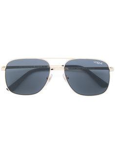 tinted aviator sunglasses  Vogue
