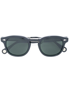 folded arms sunglasses Moscot
