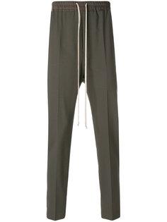 зауженные брюки с эластичным поясом Rick Owens