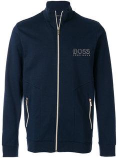 толстовка на молнии с принтом логотипа Boss Hugo Boss