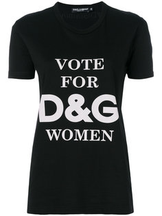 футболка Vote For DG Women Dolce & Gabbana