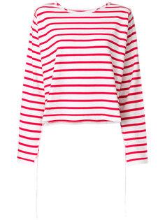 полосатая футболка с длинными рукавами Mm6 Maison Margiela