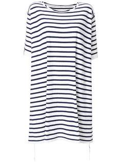 полосатое платье-футболка  Mm6 Maison Margiela