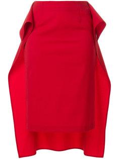 драпированная юбка с неравномерным подолом Mm6 Maison Margiela