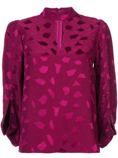 блузка с вырезом капелькой и вышивкой  Co