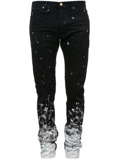 джинсы с брызгами краски  Fear Of God