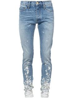 джинсы скинни с брызгами краски  Fear Of God