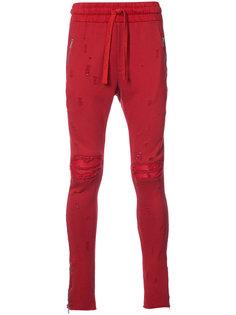 состаренные спортивные брюки  Amiri