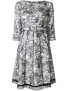 плиссированное платье  с абстрактным принтом  Marc Jacobs