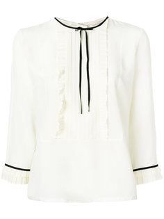 плиссированная блузка с рюшами Marc Jacobs