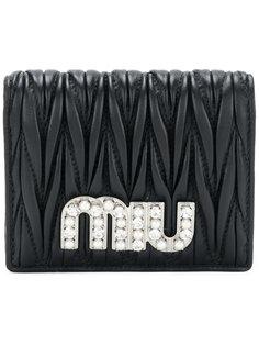 стеганый кошелек с логотипом Miu Miu