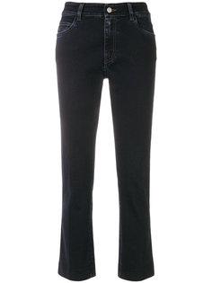 укороченные расклешенные к низу джинсы Prada