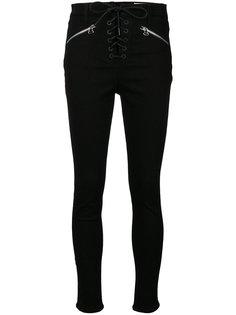 брюки скинни со шнуровкой  Rag & Bone /Jean