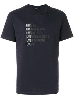 футболка с надписью Neil Barrett