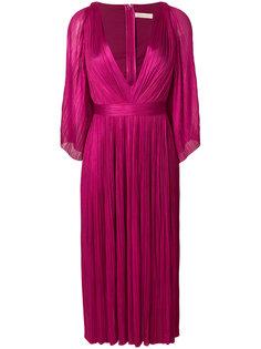 плиссированное платье с глубоким вырезом  Maria Lucia Hohan