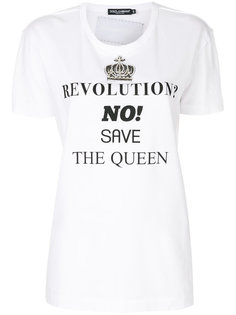 футболка Save the Queen Dolce & Gabbana